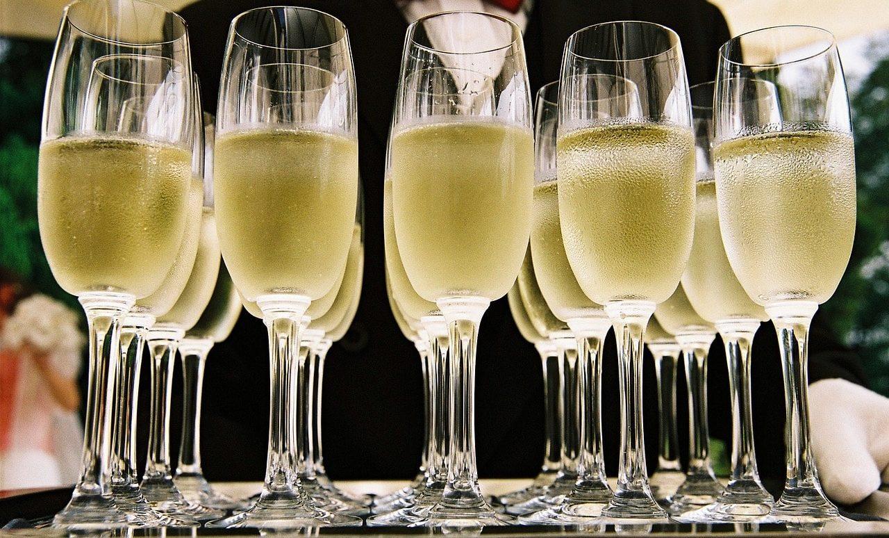 Trinktemperatur-Champagner